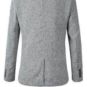 Mens Casual 1 Button Blazer Slim Fit Sport Coat